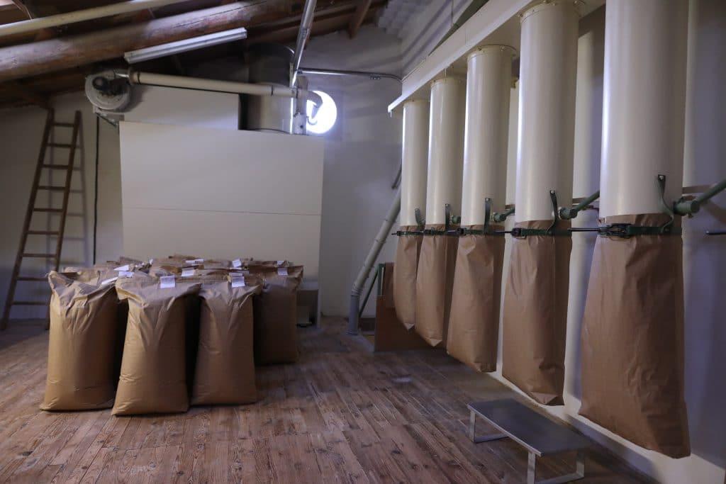 Sacs de farine moulin